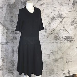 Lord & Taylor medium black knit dress.